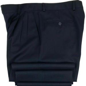 Zanella Pleated Cuffed Wool Dress Pants Size 33x28